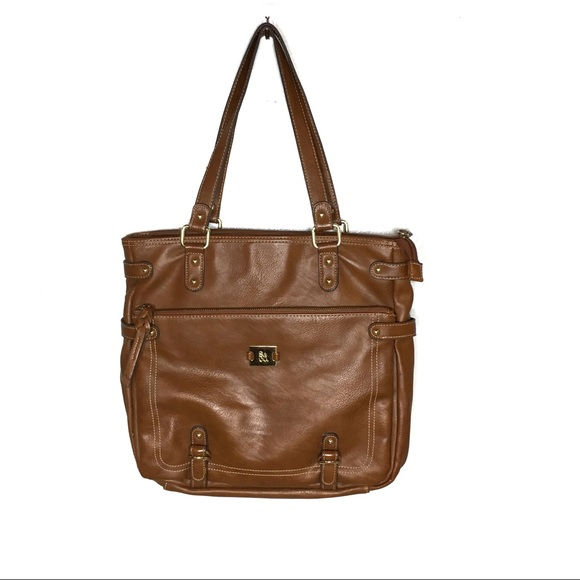 Style & Co Handbags - STYLE & CO. COGNAC BROWN FAUX LEATHER HAND BAG